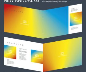 Brochure Annual 02 Innovation design layout vector