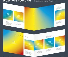 Brochure Annual 03 Innovation design layout vector