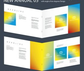 Brochure Annual 04 Innovation design layout vector