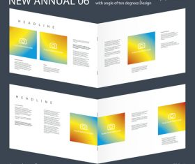 Brochure Annual 05 Innovation design layout vector