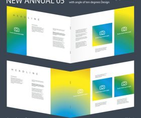 Brochure Innovation design vector