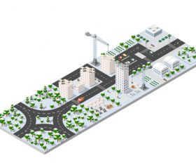 Building city module cartoon vector