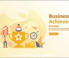 Business achievement illustration vector