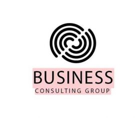 Business consulting logo template vector