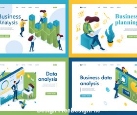 Business data analysis concept illustration vector