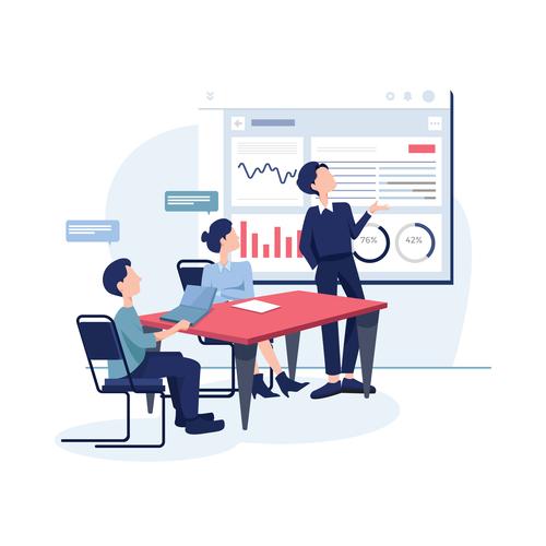 Business meeting cartoon illustration vector