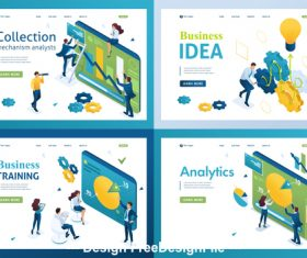Business training concept illustration vector
