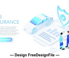 Car insurance business concept illustration vector