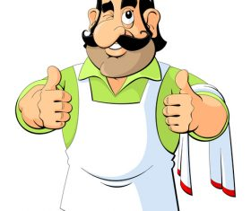 Cartoon bearded chef vector