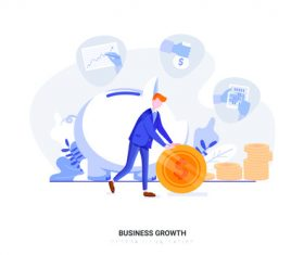 Cartoon business growth vector
