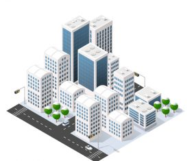 Cartoon city community vector
