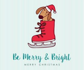 Cartoon design christmas element card vector