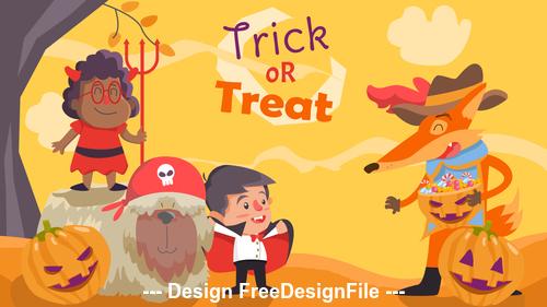 Cartoon funny halloween Illustration vector