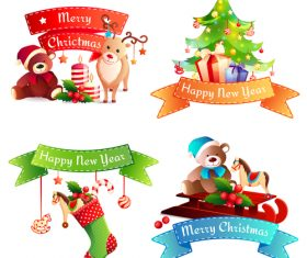 Cartoon happy christmas vector