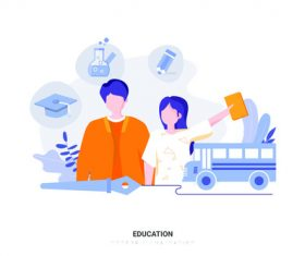 Cartoon illustration education vector