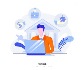 Cartoon illustration finance vector
