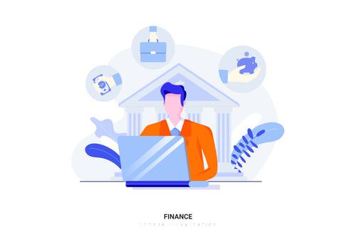 Cartoon illustration finance vector