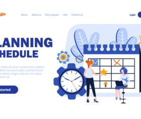 Cartoon illustration planning schedule vector