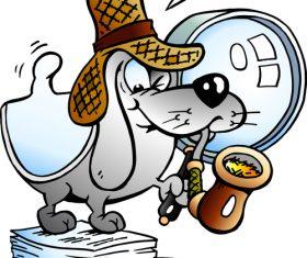 Cartoon paper dog vector