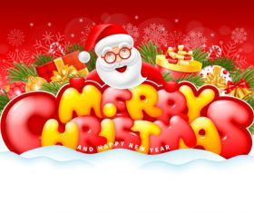 Cheerful and bright congratulation design for Christmas vector