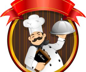 Chef flyer vector