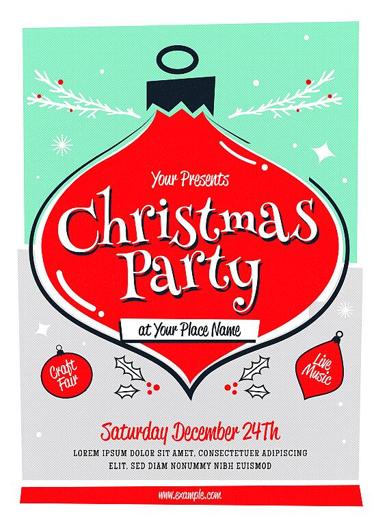 Christmas Event Poster and Flyer Psd Template