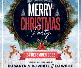 Christmas Music Party Flyer PSD Template