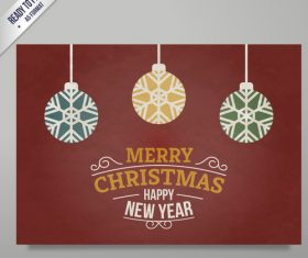 Christmas New Year card vector