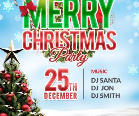 Christmas Party PSD Poster and Flyer Template