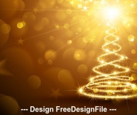 Christmas card with flickering lights vector
