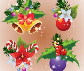 Christmas decoration arrangement vector
