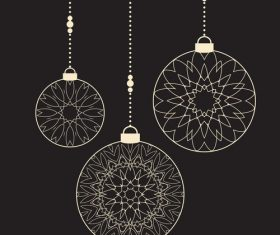 Christmas decoration ball pendant vector