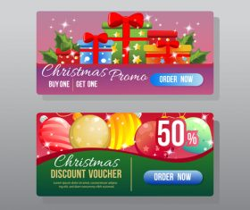 Christmas discount web banner vector