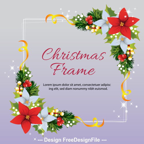 Christmas frame square vector