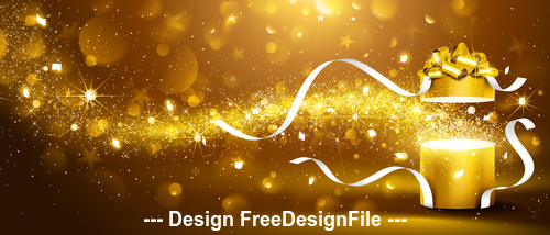 Christmas gift with flickering lights vector