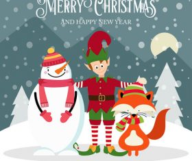Christmas holiday cartoon illustration vector