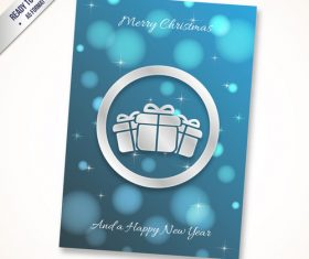 Christmas new year gift card vector