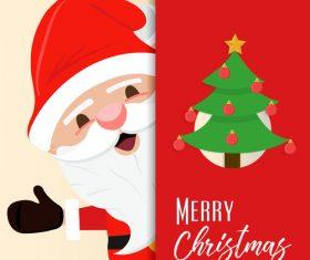 Christmas old man cartoon vector