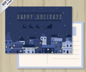 Christmas postcard card vector