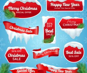Christmas red sale banner vector