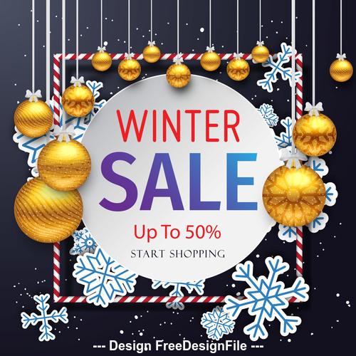 Christmas sale master vector