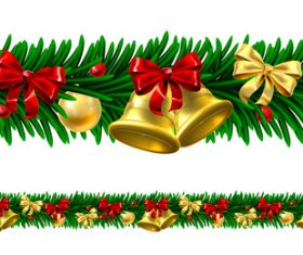 Christmas wreath border vector
