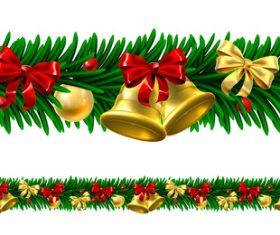 Christmas wreath border vector