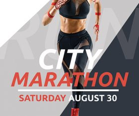 City Marathon PSD Poster and Flyer Template