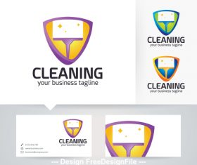 Cleaning logo vector