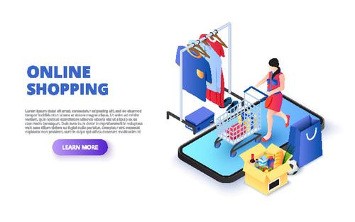 Concept illustration online shopping vector