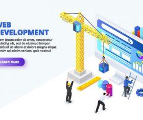 Concept illustration web development vector