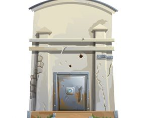 Concrete building vector