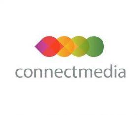 Connect media logo template vector