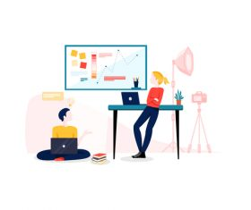 Conversation illustration vector